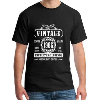 Graphic Vintage 1986 The Birth Of Legends t shirt big size s~5xL cool Humor summer men tee t shirts Classical Tee top