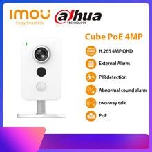 Dahua imou cubo poe câmera ip 4mp pir detecção de interface de alarme externo detecção de som em dois sentidos falar câmera