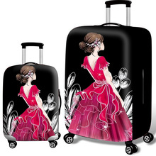 New Suitcase Elastic Dust Cover Luggage Dust Cover For 18-30 Inch Password Box High Quality Trolley Case Protective Covers dispalang covers for suitcases anti dust luggage protective covers for 18 20 22 24 26 28 30 inch dirtproof luggage cover flowers