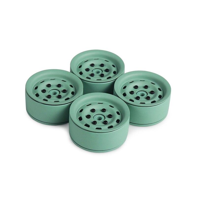 4 шт. Алюминий сплав 1,9 дюймовые колесные диски для 1/10 Rc комплект автомобильных принадлежностей для передней и задней оси Scx10 Scx10 Ii 90046 Traxxas D90