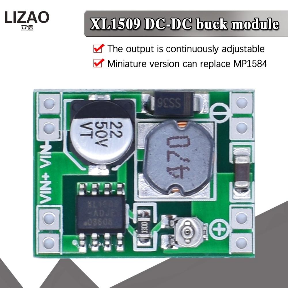 XL1509 ультра-маленький Размеры DC-DC Шаг вниз Питание модуль 2A размер можно регулировать для Arduino Diy Starter Kit Совместимость LM2596S XM1584