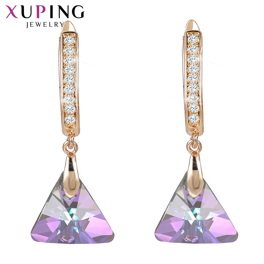 Xuping Dangle Earrings Vintage Crystals from Swarovski European Style Jewelry New Year Day Gifts for Women Girls 20539