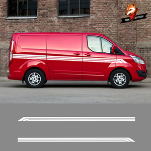 2 шт. Авто графические Наклейки Автомобиля Виниловые боковые полосы наклейки для Volkswagen T5 Ford Transit peugeot Partner