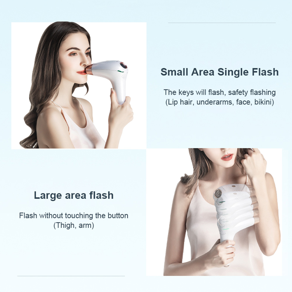 Electric Epilator Hair-Removal Laser Ipl Permanent Women for 3-In1