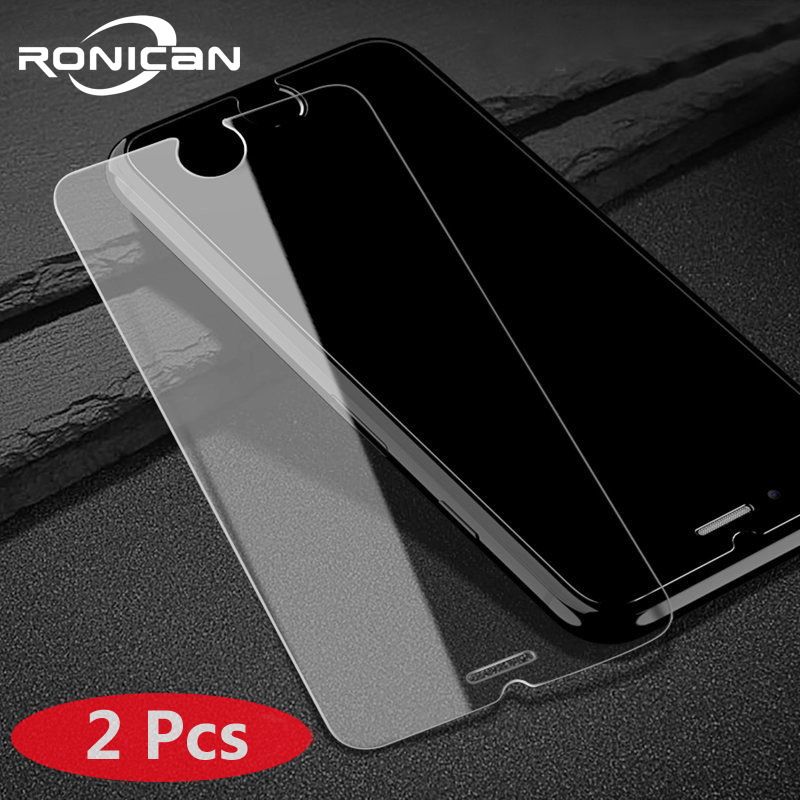 2Pcs Tempered Glass For IPhone 7 8 Plus Screen Protector For IPhone 6 6s Glass Film On IPhone 5 5s SE 6 7 8 X XS XR XS MAX Glass