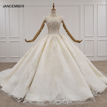 HTL1224 2020 웨딩 드레스 높은 목 민소매 크리스탈 진주 지퍼 뒤로 공주 컷 웨딩 드레스 свадебное платье бохо