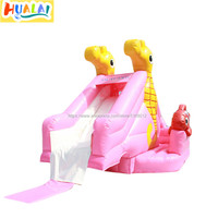 kids giant inflatable water slide into pool hippocampus fish lager water park backyard for sale PVC 6X4X3m free shipping