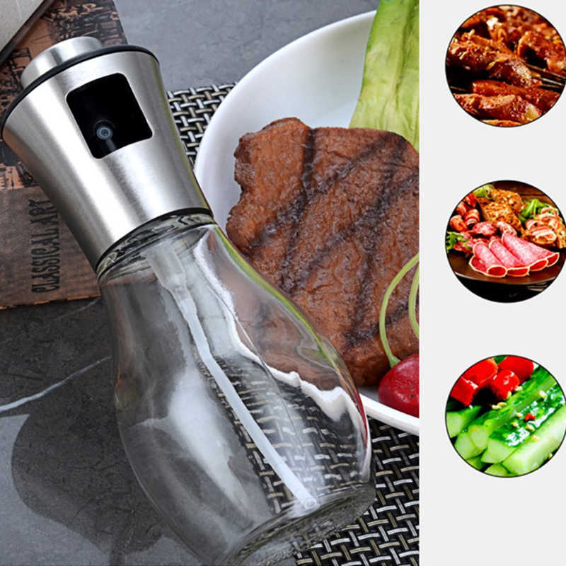 Stainless Olive Oil Sprayer Cooking Mister Spray Pump Fine Bottle Kitchen Tool