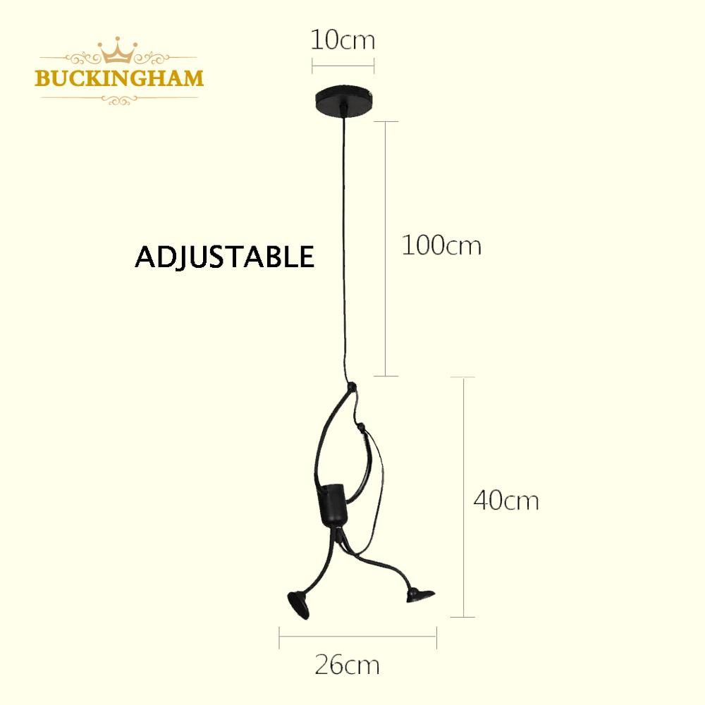 Retro Iron Man Pendant Lights Nordic Pendant Light Hanging Lamp Creative Little Man Climbing Hanger For Baby Kid Room Metal Lamp