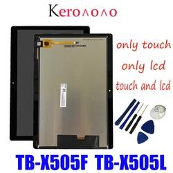 Para Lenovo Tab M10 HD TB-X505 X505F TB-X505L X505 tela sensível ao toque de montagem lcd tela LCD de 10.1 polegadas