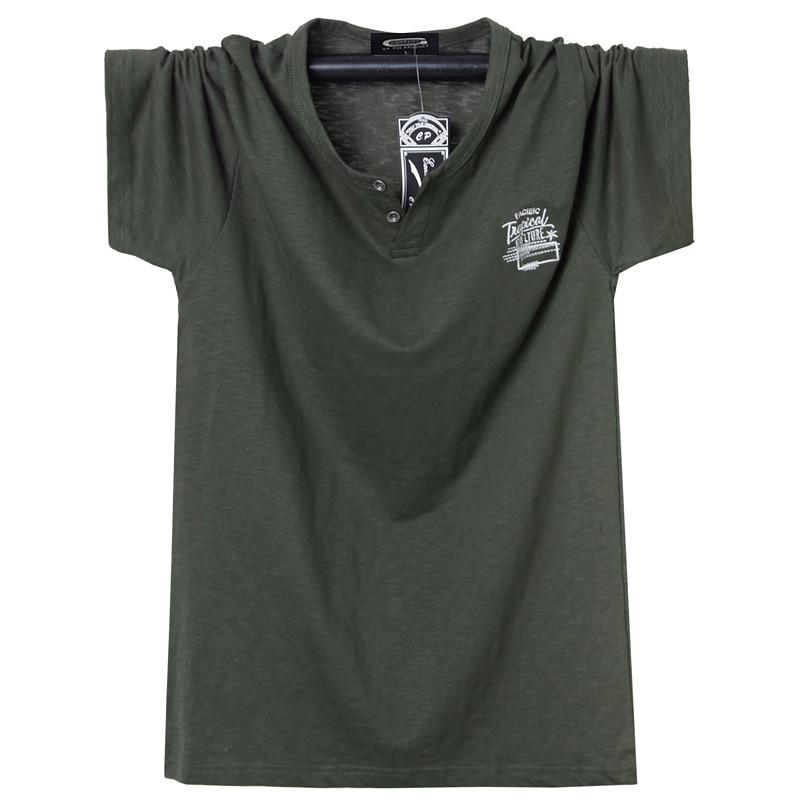 Yaz erkek T-shirt ekip boyun T gömlek pamuk erkekler büyük üstleri Tee nefes Slim Fit T Shirt Homme rahat büyük boy 5XL 6XL