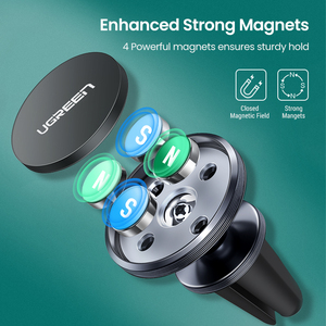 Image 4 - Ugreen Car Magnetic Phone Holder Cell Phone Mount Holder Stand In Car Smartphone Support Magnet for iPhone X Mobile Stand Holder