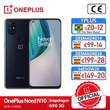OnePlus Nord N10 5G OnePlus Offizielle Shop Welt Premiere Globale Version 6GB 128GB Snapdragon 690 Smartphone 90hz Display 64MP