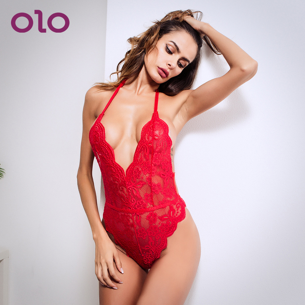 OLO Porn Lace Babydoll Costumes Women Lingerie Sexy Hot Dress Teddies Bodysuits Erotic Lingerie Sex Underwear Adult Products