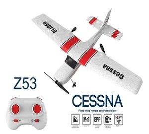 Z53 182T 2,4 ГГц RC самолет, Летающий Самолет EPP пенопластовый игрушечный самолет планер 25 минут время полета RTF самолет из пеноматериала игрушки Д...