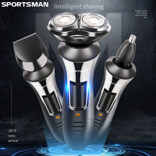 3in1 wet dry shaver for men rechargeable electric shaver male electric razor facial beard shaving machine rotary cleaning kit цена