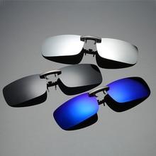 Detachable Night Vision Lens Driving Metal Polarized Clip On Glasses Sunglasses Car Driver Goggles