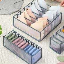 Pojemnik do przechowywania bielizny z 6 7 11 przegródką nylonowe skarpety podzielone pudełko szafa szuflada organizery szuflad domowych tanie tanio CN (pochodzenie) 12x32x12 cm
