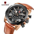 2019 New Sport Chronograph Men Watches Top Brand KADEMAN Casual Leather Waterproof Date Quartz Watch Man Clock Relogio Masculino