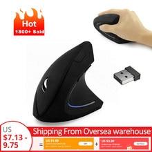 Mouse senza fili Del Mouse Verticale Mouse Da Gioco USB Del Computer Mouse Ergonomico Desktop In Posizione Verticale Mouse 1600DPI per il Computer Portatile Del PC Home Office