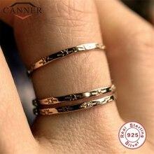Anillos elegantes de Plata de Ley 925 con diseño japonés y coreano Ins para mujer anillos de dedo Vintage sencillos joyería de estudiante regalo para amigo