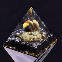 Orgon enerji dönüştürücü orgonit piramidi obsidyen yatıştırır ruh taş değiştiren manyetik alan hayat reçine takı