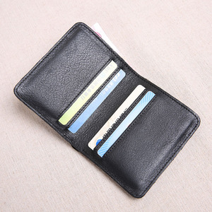 Image 3 - AETOO Wallet Mens Short Leather Top Layer Leather Slim Mini Wallet womens Vertical Student Manual Wallet Soft Leather