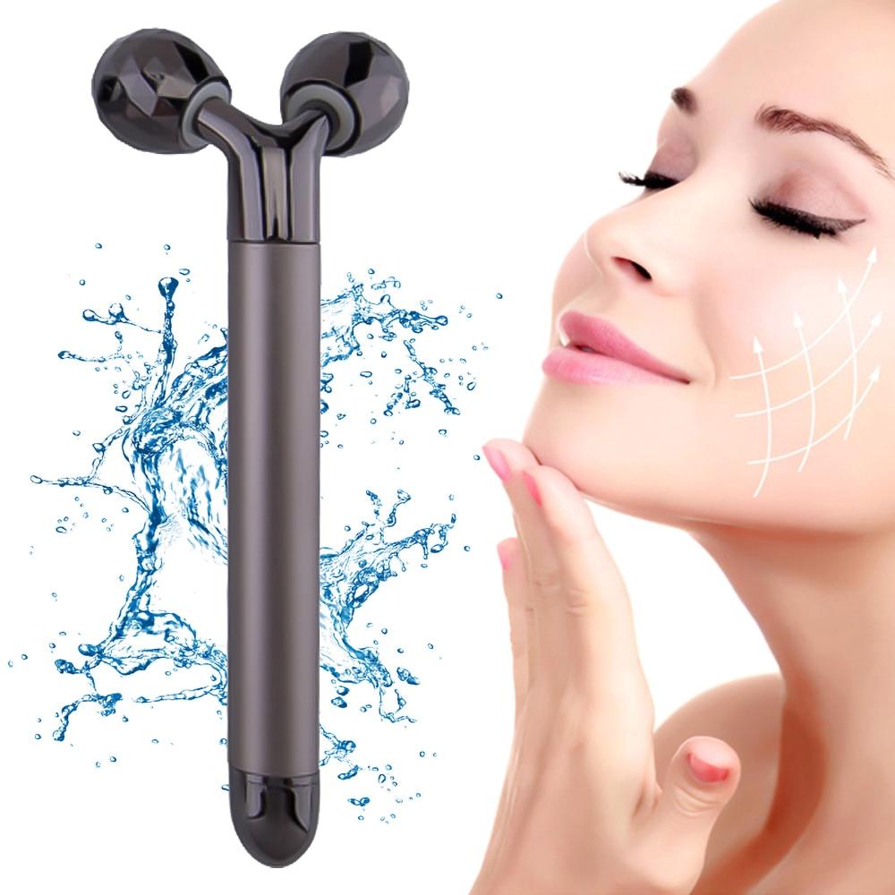 3d rolo massageador 360 girar elétrica rosto fino corpo inteiro forma massageador levantamento rugas removedor facial y forma ferramenta de relaxamento