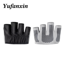 Sports silicone non slip gloves Yoga dumbbell weight lifting four finger Fitness Gloves protection palm