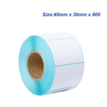 4030(40*30*800) Thermal sticker paper Thermal label paper Barcode sticker paper for sticker printer image