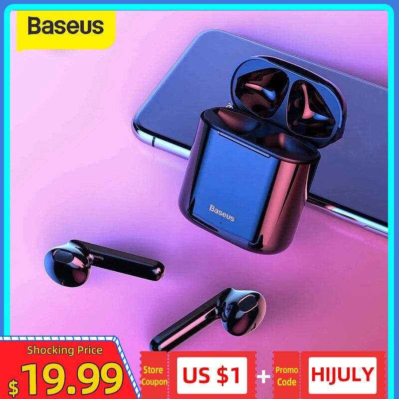 Baseus Беспроводные наушники W09 TWS наушники беспроводные, Bluetooth стерео наушник,блютуз наушники,безпроводные наушники,игровые наушники, Bluetooth гарнитураи Buletooth 5,0 игровая гарнитура HD спортивные наушники|Наушники и гарнитуры|   | АлиЭкспресс