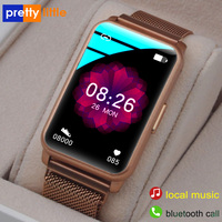 Bluetooth Oproep Smart Horloge Mannen Vrouwen 1G Geheugen Tws Headset Functie Muziek Smartwatch Full Touch Fitness Tracker Voor Android ios
