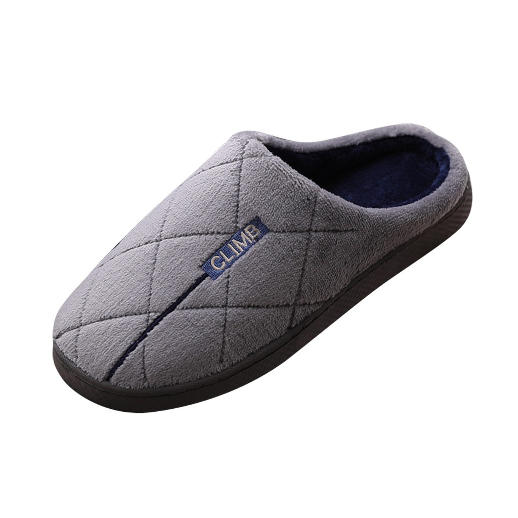 2019 Winter Women's Mens Couples Warm Non-slip Floor Home Fur Slippers Indoor Bedroom House Shoes Woman Female Slides Plus Size