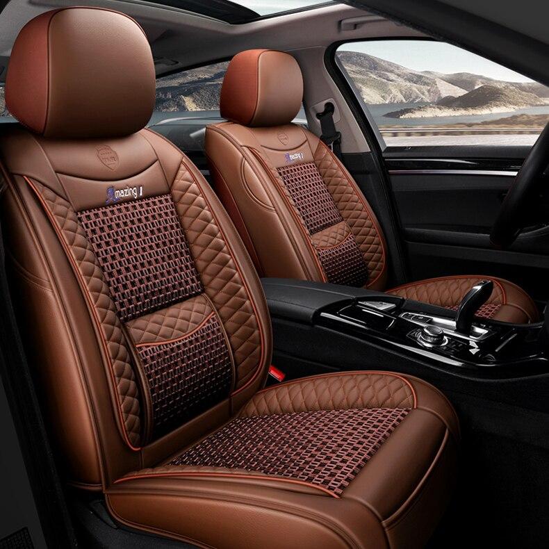 Housse de siège de voiture universelle pour auto mitsubishi pajero 4 2 sport outlander xl asx accessoires lancer 9 10 housses pour sièges de véhicule - 2