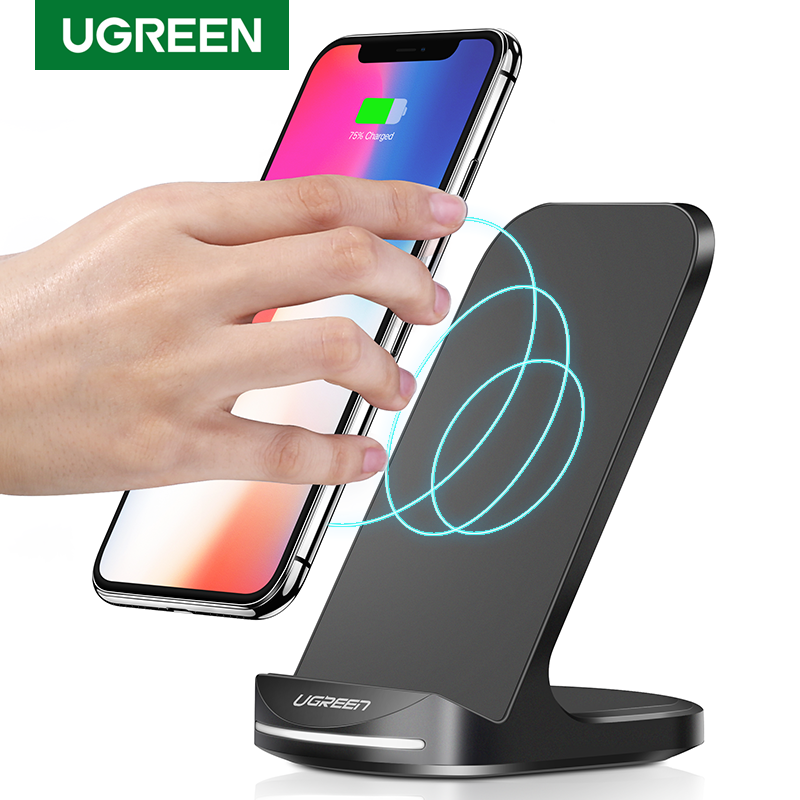 UGREEN Qi Wireless Charger Stand for iPhone 11 Pro X XS 8 XR Samsung S9 S10 S8 S10E Phone Charger Fast Wireless Charging Station|Wireless Chargers|   - AliExpress