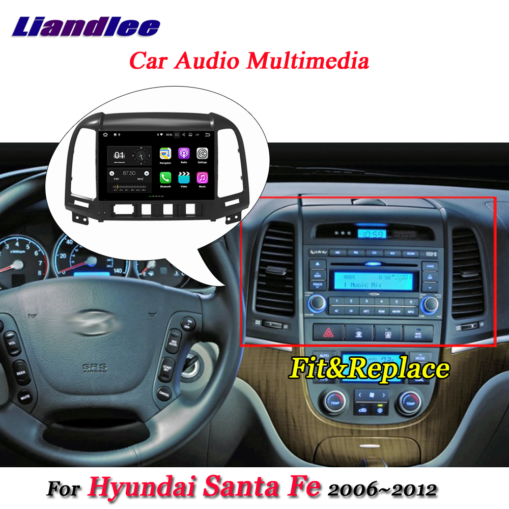 Car Android Multimedia Player For <font><b>Hyundai</b></font> <font><b>Santa</b></font> <font><b>Fe</b></font> 2006~2009 <font><b>2010</b></font> 2011 2012 Stereo Radio Video <font><b>GPS</b></font> Navigation System HD Screen image