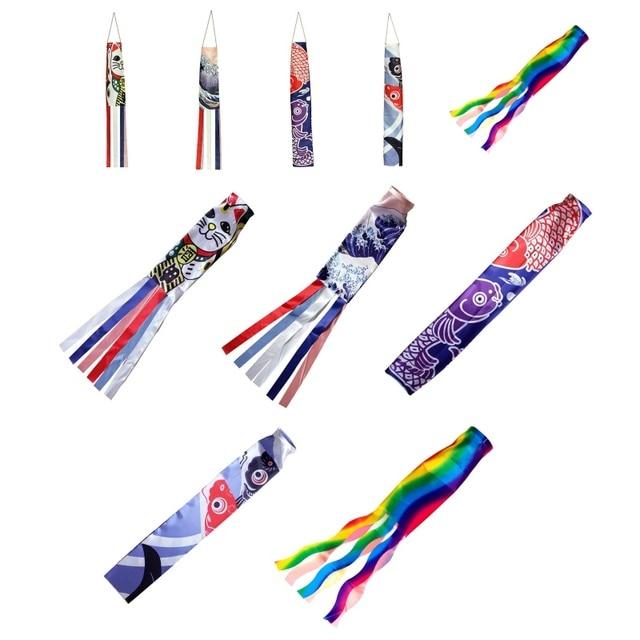 Japanischen Karpfen Spray Windsack Streamer Fisch Flagge Kite Cartoon Fisch Bunte Windsack Karpfen Wind Socke Flagge