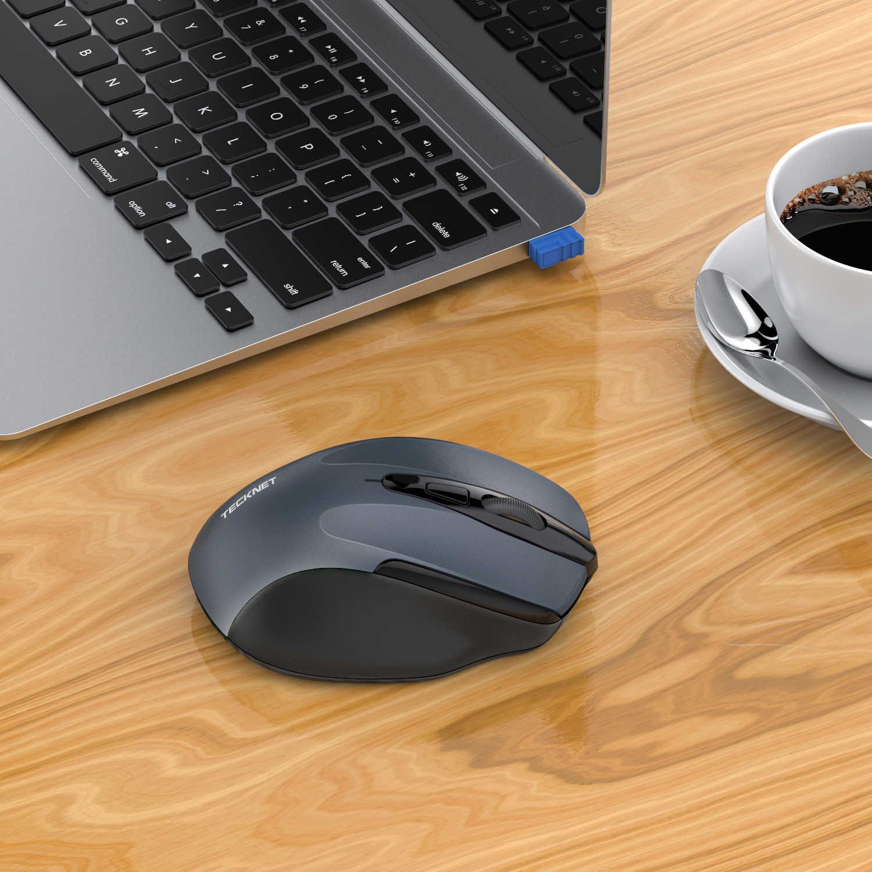 TeckNet USB ワイヤレスマウス 2600 Dpi 調整可能な USB レシーバー光コンピュータマウス 2.4GHz 人間工学マウスノート Pc 用マウス