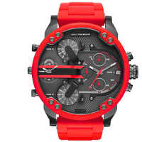 Factory Direct Selling DZ Watch Men Large Dial Double Inserts Red Watch White Watch Steel Band Quartz Watch