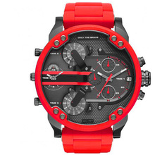 Factory Direct Selling DZ Watch Men Large Dial Double Inserts Red Watch