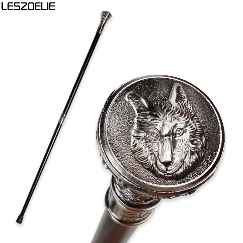 Wolf-Head Luxury Walking Stick Cane For Man 2019 Fashion Decorative Walking Stick Men Elegant Hand Canes Vintage Knob Stick