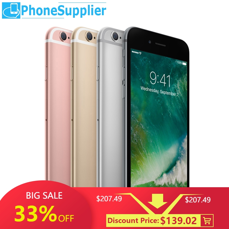 Apple IPhone 6s Unlocked Smartphones 4G LTE 4.7 Inch 12MP Camera Apple A9 IOS Fringerprint 16GB/64GB/128GB ROM Mobile Phones