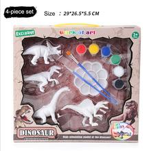 4 sztuk Diy Model dinozaura zabawka dla dzieci biały kolorowy obraz symulowane Puzzle ze zwierzętami zestaw dla dzieci Graffiti malowanie wczesne tanie tanio SONGYI Urodzenia ~ 24 Miesięcy 8 ~ 13 Lat 14 lat i więcej 2-4 lat 5-7 lat Zwierzęta i Natura 4 pieces a set of simulated dinosaurs