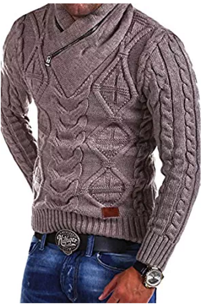 ZOGAA Fashion Mens Sweater Men Zipper Autumn Solid Knitted Streetwear Sweaters Winter Warm Casual Slim Fit Pullovers Hip Hop