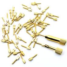 Dental Post pozłacane wkręty stomatologiczne i wkręty stomatologiczne klucz Dental szpilki materiały materiały stomatologiczne 50 sztuk w torba tanie tanio iflydent CN (pochodzenie) S1 S2 S3 S4 M1 M2 M3 M4 L1 L2 L3 L4 Wybielanie zębów Stainless still