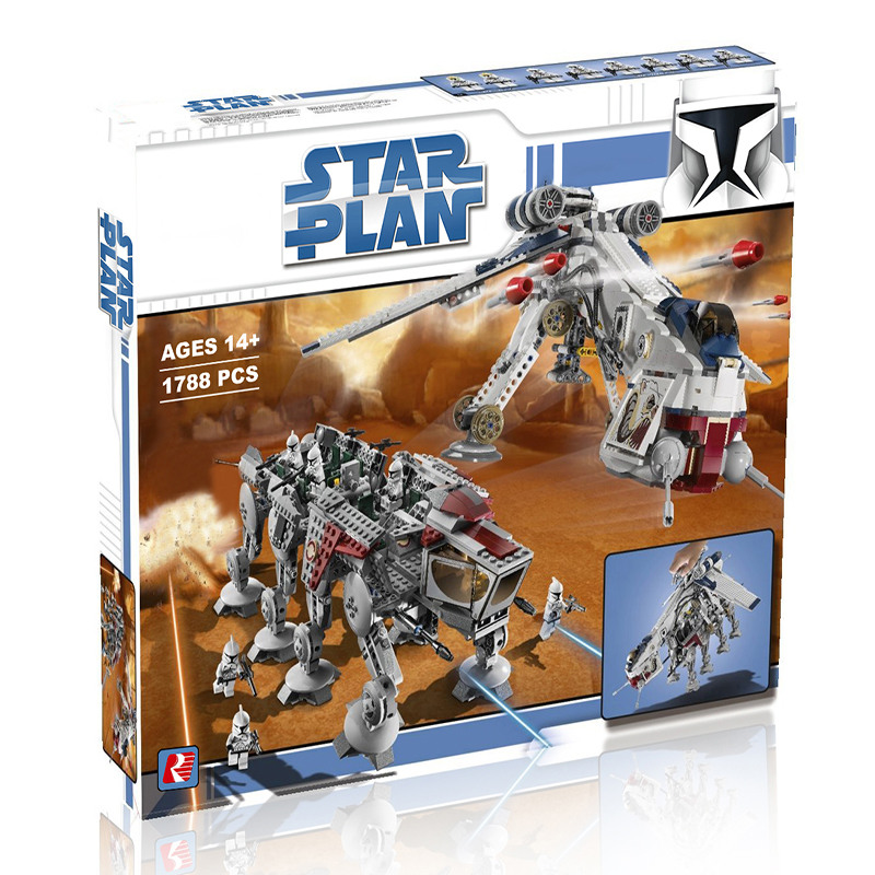 In Stock 1788pcs 05053 Genuine Star Was Republic Dropship With At-ot Walker Set Building Blocks Bricks Compatible Lepined <font><b>10195</b></font> image