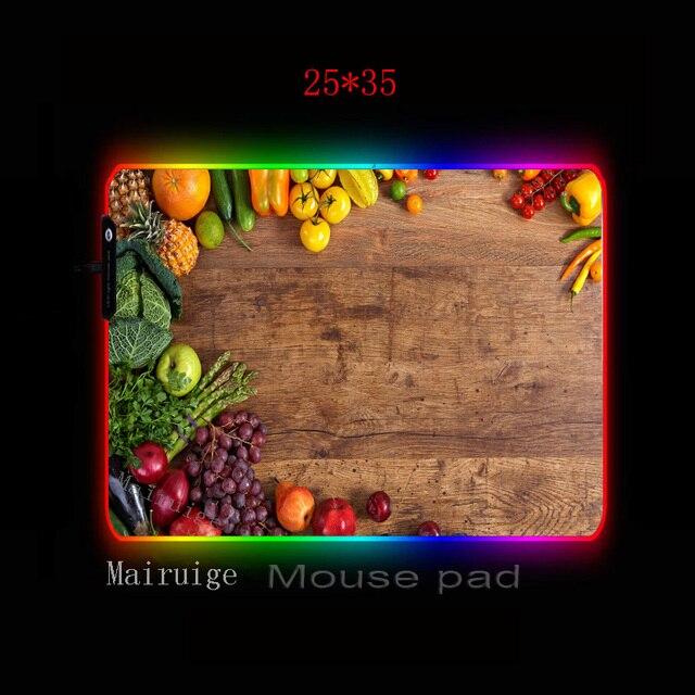 Фото mairuige домашняя разделочная доска фрукты rgb игровой коврик