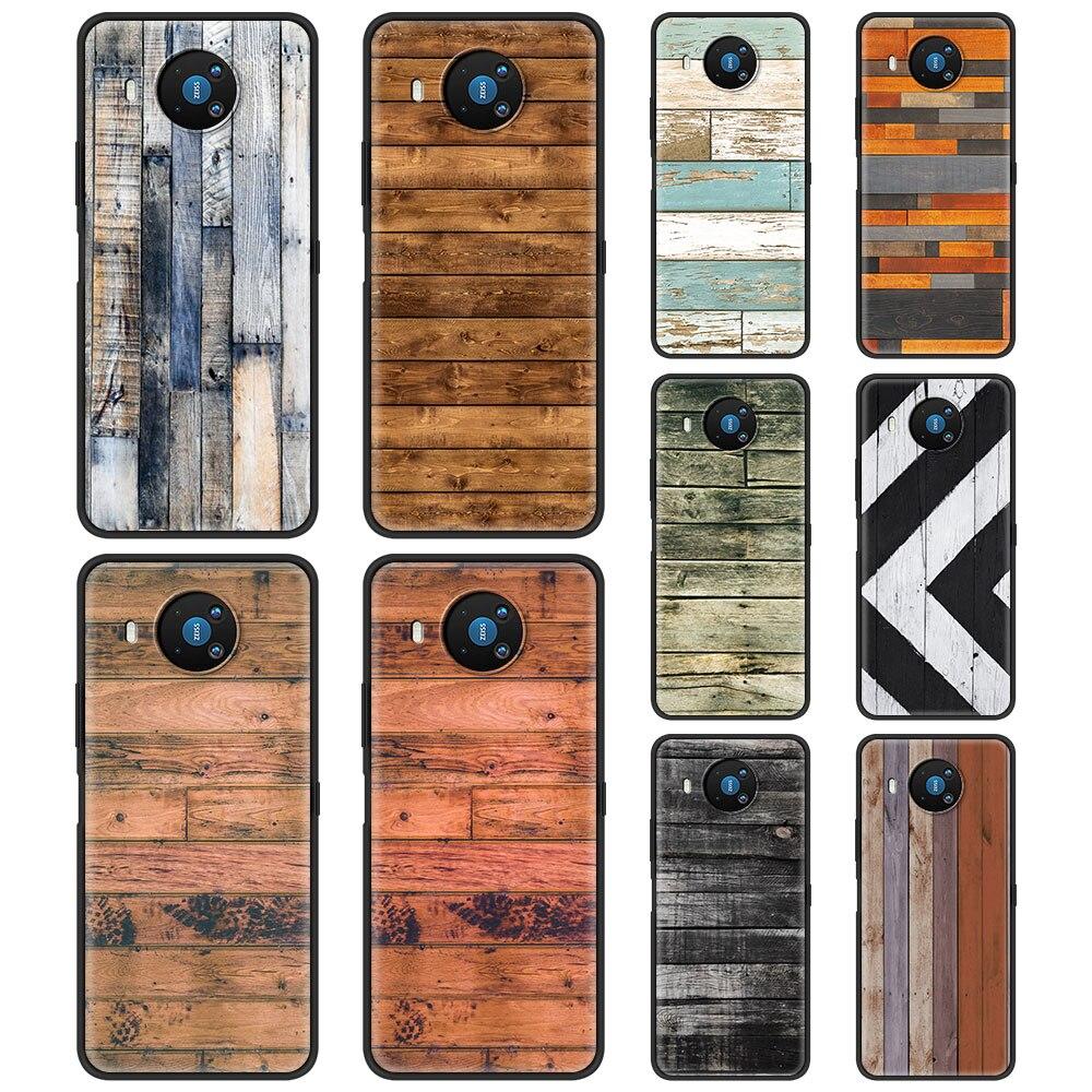 Wood Texture Silicone Case Funda For Nokia 2.2 2.3 3.2 4.2 7.2 1.3 5.3 8.3 5G 2.4 3.4 C3 C2 Tenen 1.4 5.4 Back Cover Coque