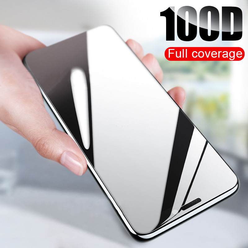 New 100D Curved Full Cover Tempered Glass On The For IPhone X XR XS Max Screen Protector For IPhone 8 7 6 Plus 5 Protection Film