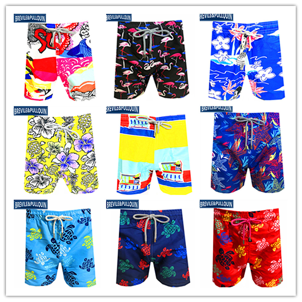 Special Offer 2020 Bermuda Boardshorts Mens Turtles Swimsuits Brevile Pullquin Beach Swimtrunks Adults Swimwear 100% Quick Dry